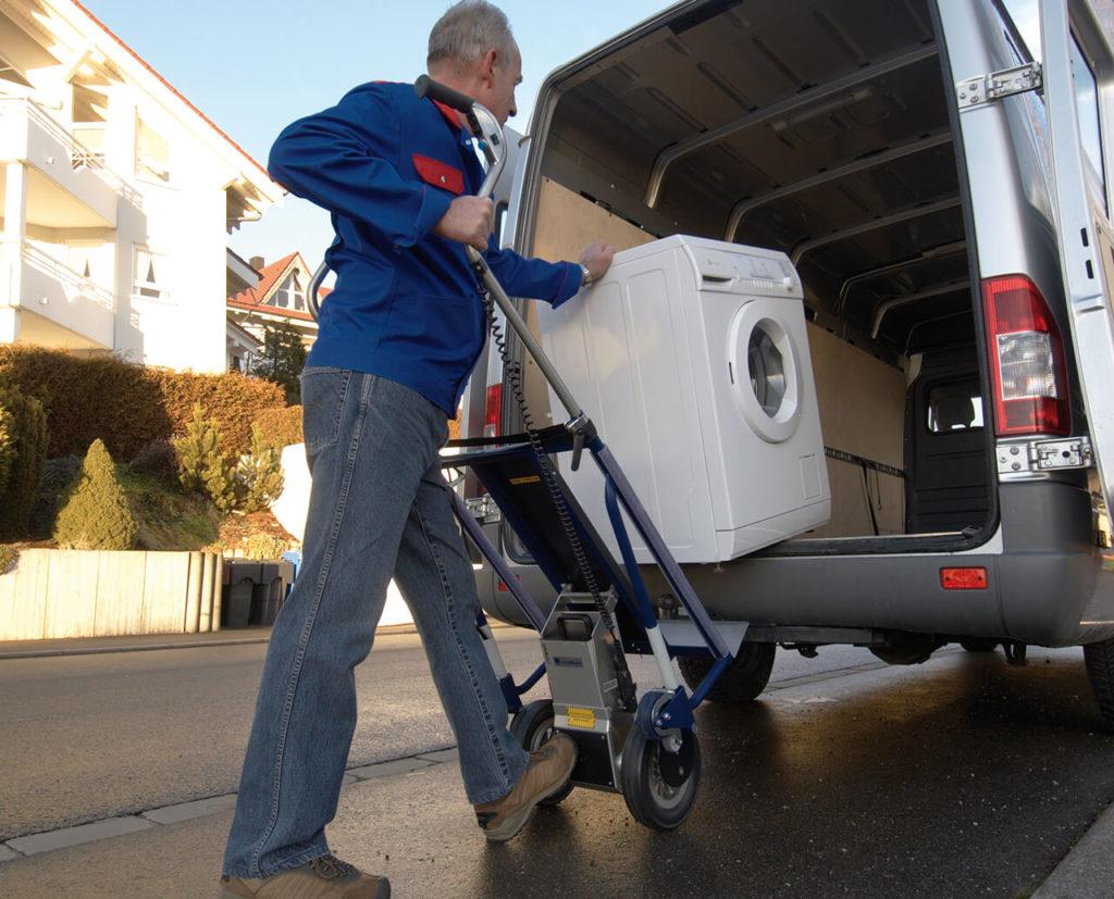 carrello saliscale elettrico per lavatrici CargoMaster A142